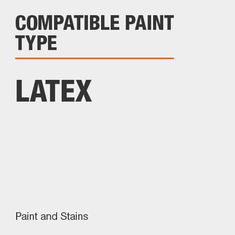 best results when paired with Latex paint