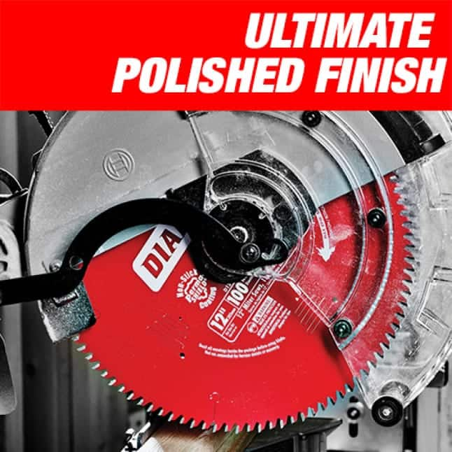 This is an image of a Diablo ultimate polished finish circular saw blade.