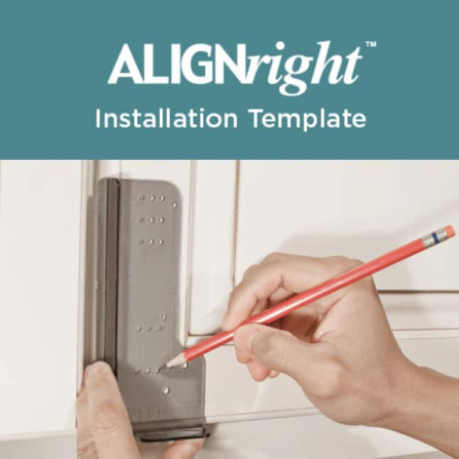 Cabinet Hardware Installation Template