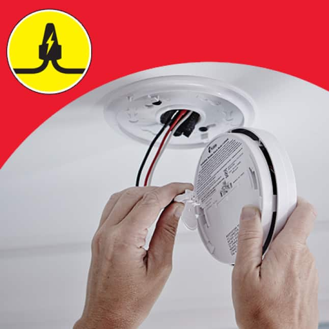 Smoke alarms run on your home's electricity, battery backup during outages