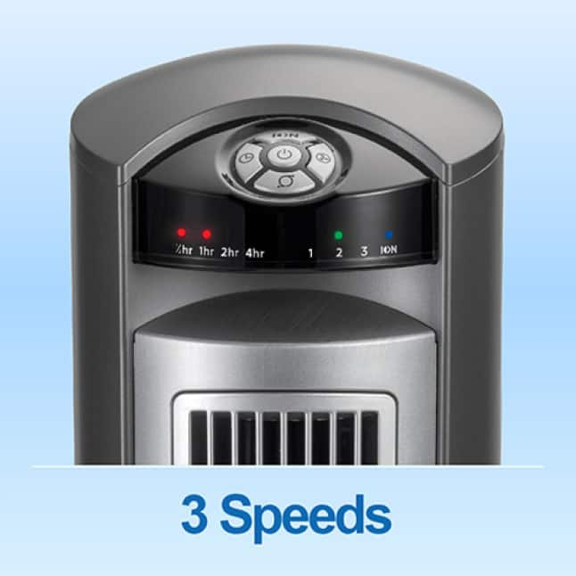 Control the fan speed by choosing between 3 different speed settings