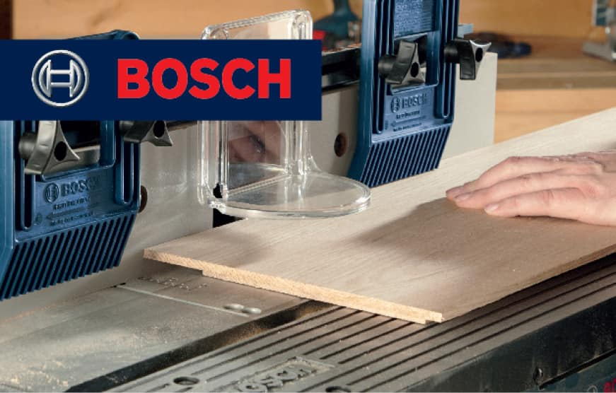 Bosch router table cutting wood
