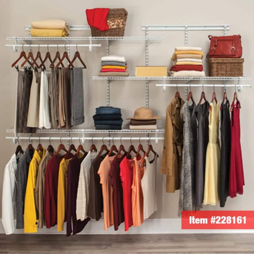 Get organized with a ShelfTrack closet kit