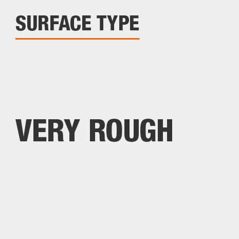 Best results when applied to very rough surfaces