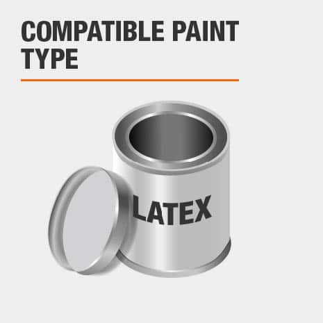 compatible with latex based paint and stains with flat sheens