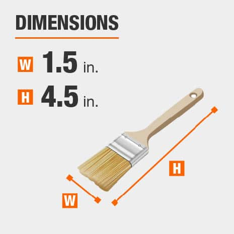 1.5 inch brush head 4.5 inch long handle