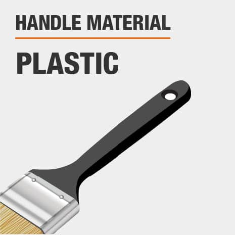 Plastic paint brush handle