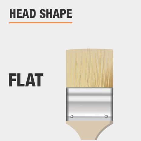 Flat brush head shape