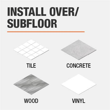 Installable Over Subfloors