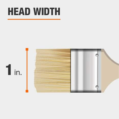 show width of brush head