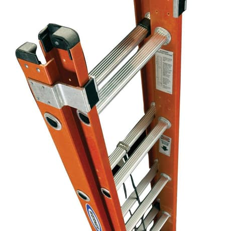 Top view of the ladder