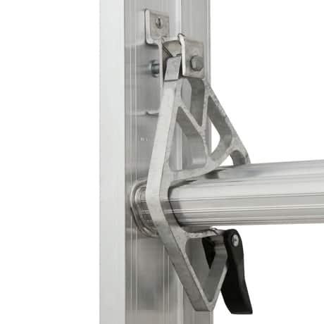 Spring loaded locks on a Werner Extension Ladder