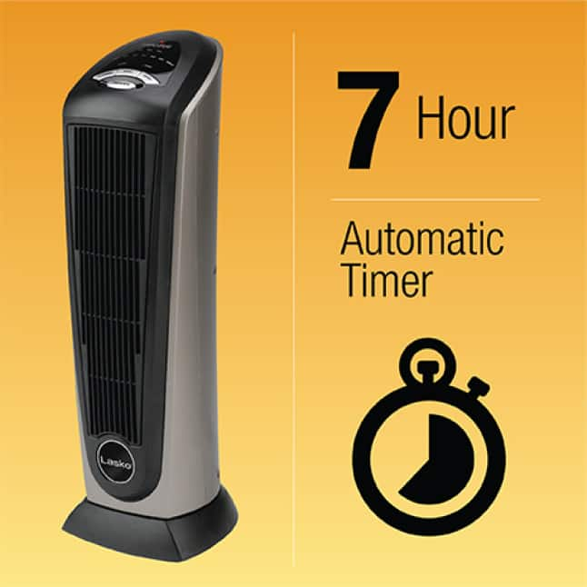 7-Hour Automatic Timer for Peace of Mind