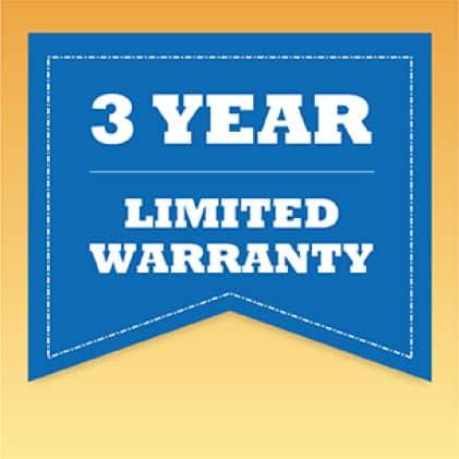 3-Year Limited Warranty