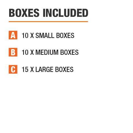 Moving box kits included boxes