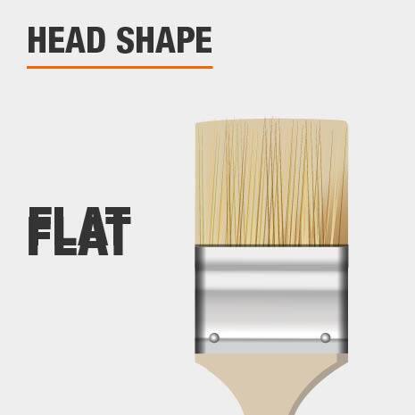 Flat head shape