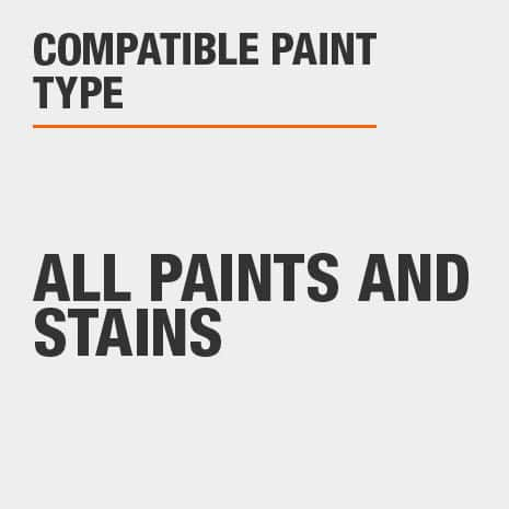 Can be used with all paints and stains