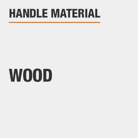 Wood brush handle