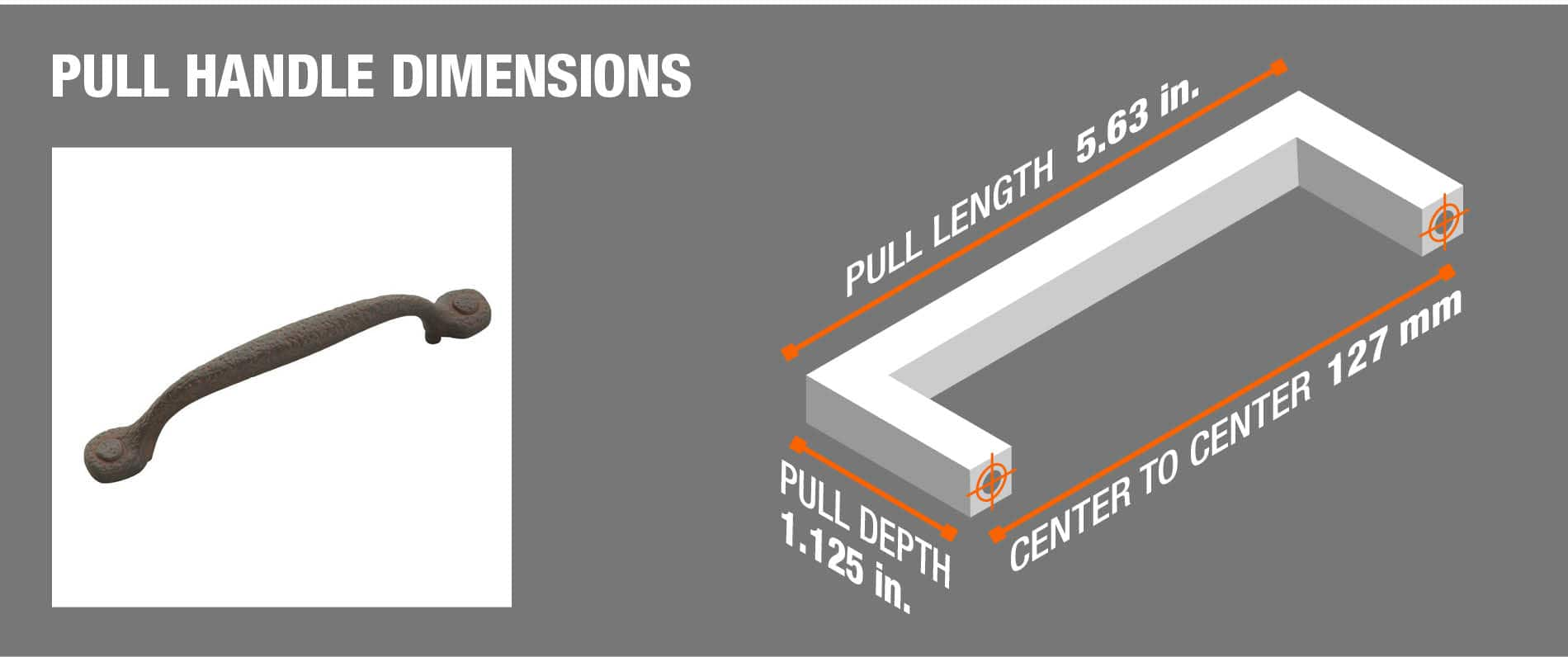 pull handle dimensions