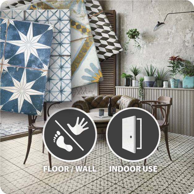 The Merola Tile Kings Collection tiles are suitable for interior floor and wall applications.