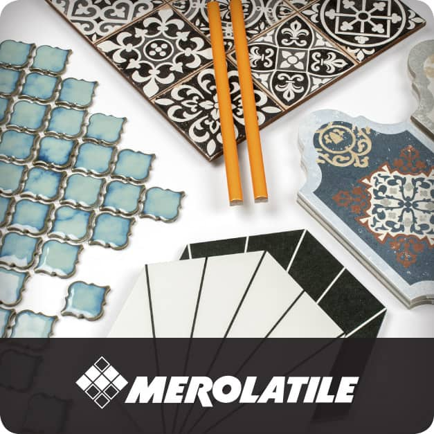 A group of tiles representative of the diverse range of high-quality products suitable for any project that Merola Tile offers.