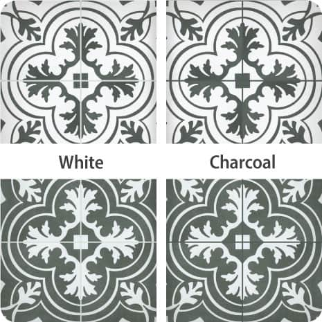 These Twenties Classic and Vintage tiles finished with white and charcoal grout show the impact different colors can have on your tile installation.