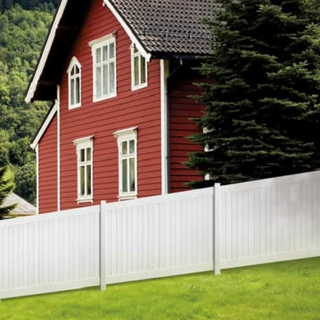 An image showing how the fence panel can be installed on a slope