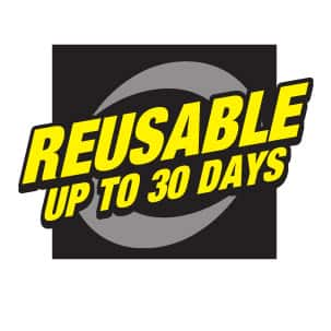 Touch N Foam is Reusable For Up to 30 Days