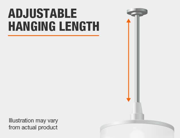 Adjustable hanging length.