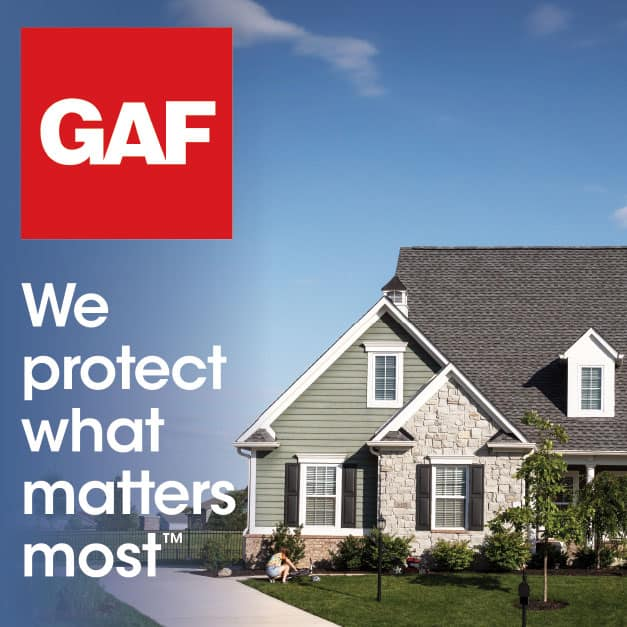 More homes and businesses in the U.S. are protected by a GAF roof than by any other product. We are the leading roofing manufacturer in North America.