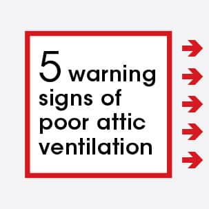 Your home offers warning signs when your attic isn't properly ventilated. You may recognize some of these signs in your own home.