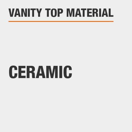This bathroom vanity top material is Ceramic