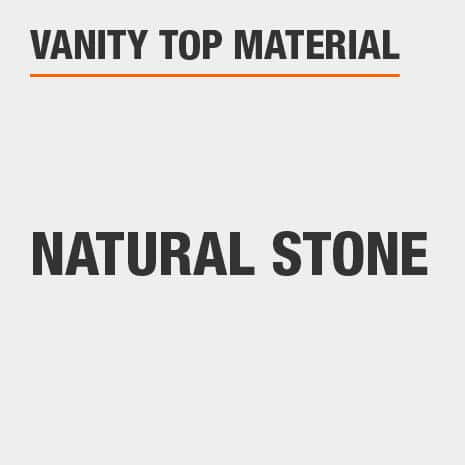 This bathroom vanity top material is Natural stone