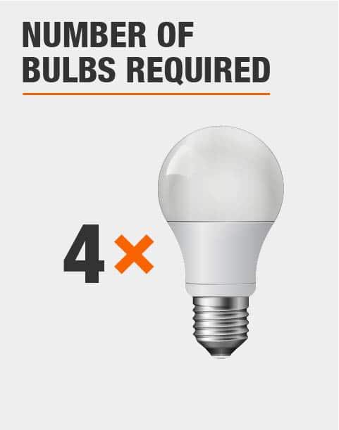 4 Light Bulbs Required