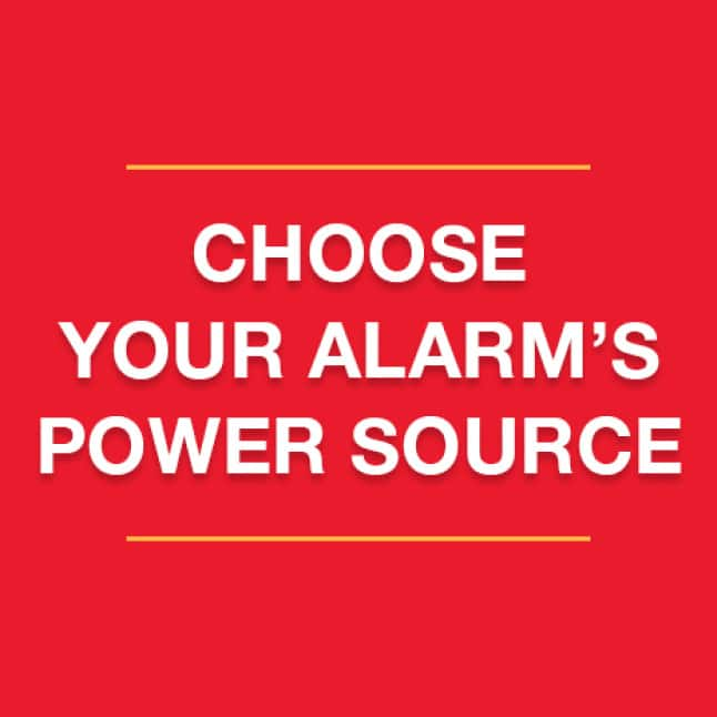 Identify current power situation, choose the right smoke alarm