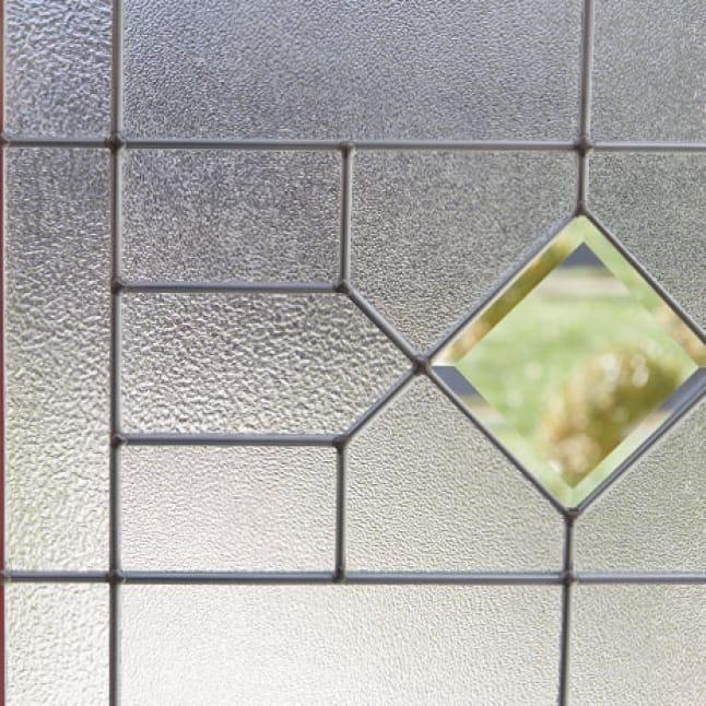 Close up visual of glass design.