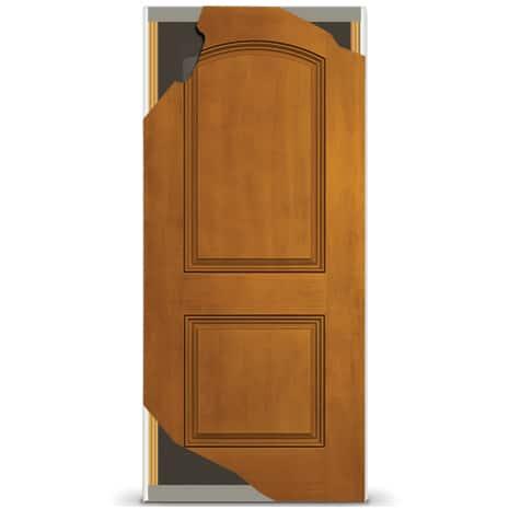 Close up image of door hinge