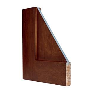 Corner sample cut-out of fiberglass door