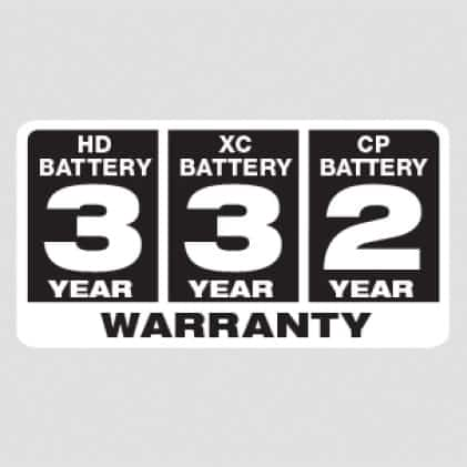 Milwaukee protects your investment by backing all their M18 Batteries with warranties.