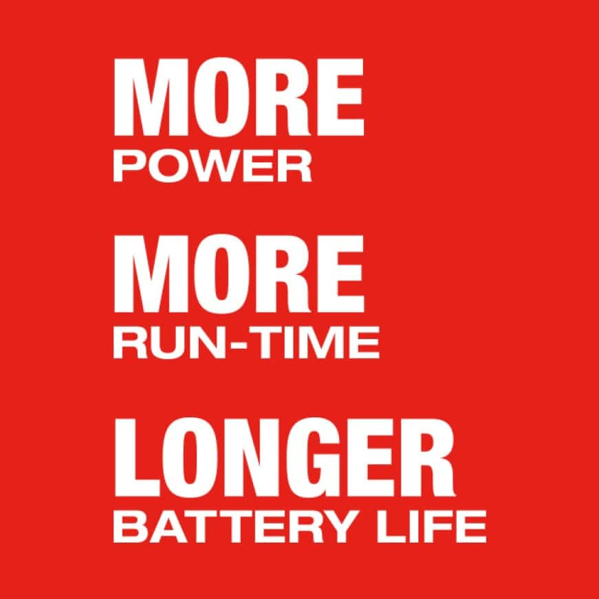 Milwaukee 18 volt batteries offer more power, more runtime and longer battery life.