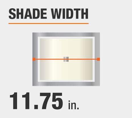 Shade Diameter: 11.75 in.