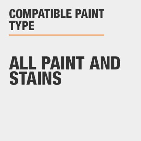 Compatible with all paints and stains
