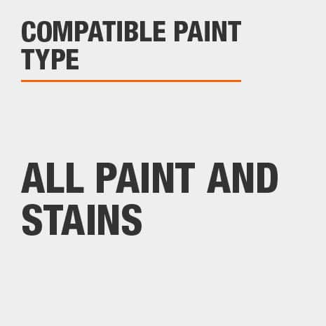 Compatible with all paints and stains with high gloss sheens