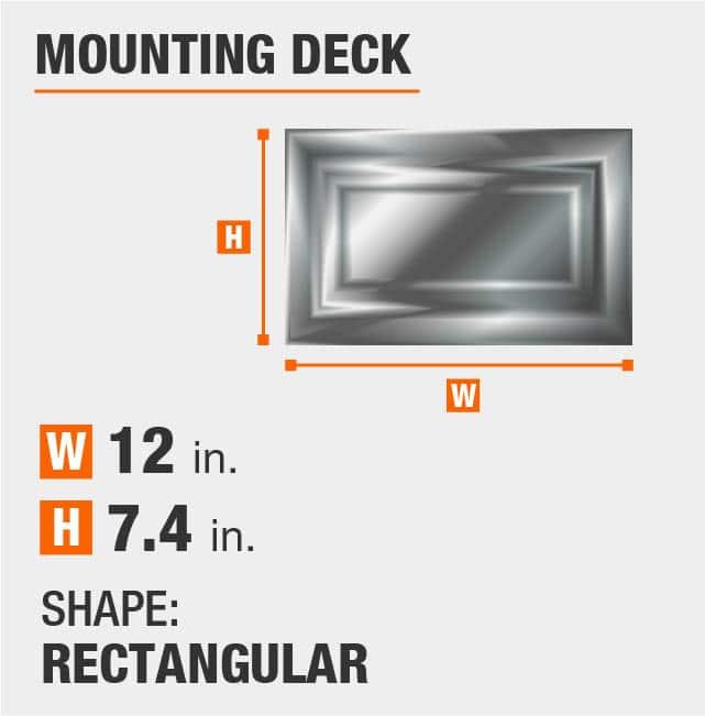 Rectangular Mounting Deck