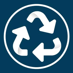 Recycled content icon