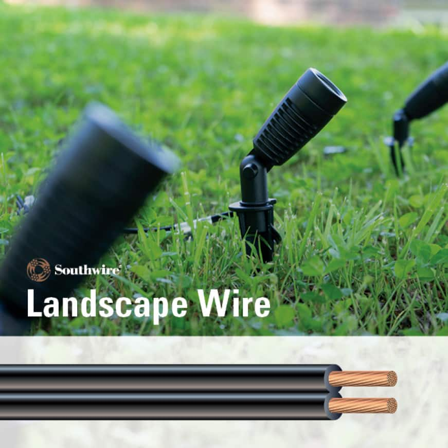 Stranded Copper Low-Voltage Outdoor Landscape Lighting Wire and Cable Installation Information