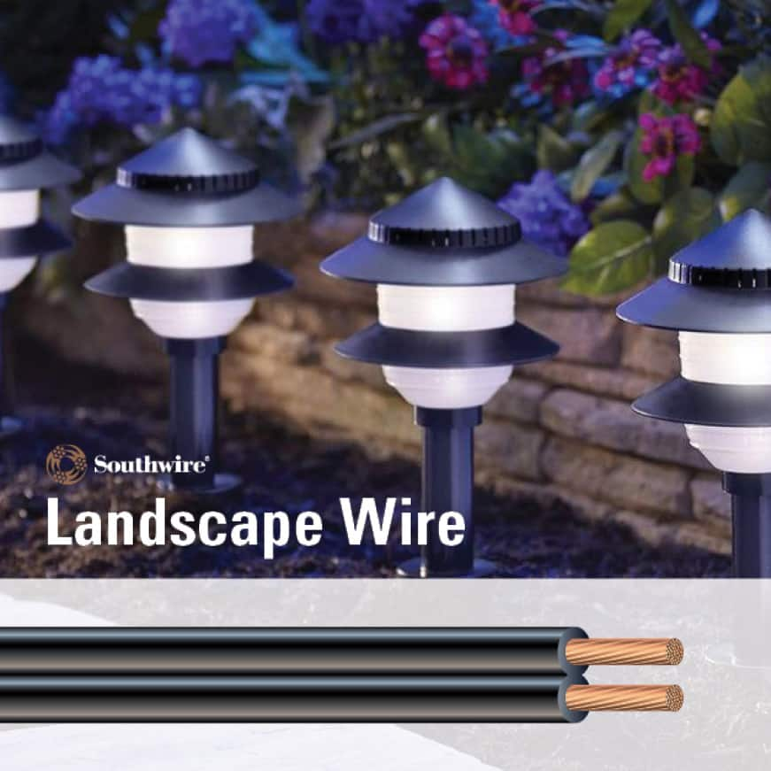 Stranded Copper Low-Voltage Outdoor Landscape Lighting Wire and Cable Operation Information