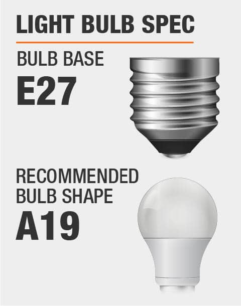 E27 Base A19 Bulb Recommended