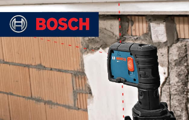 Bosch GPL3 projecting points in 3 directions near wall.