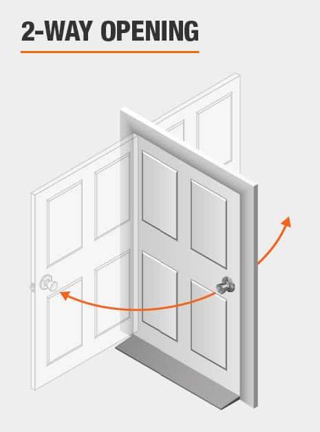 Door Hinge 2-Way Opening feature